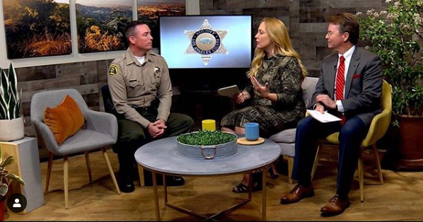 Lt. Joseph Fender from the SCV Sheriff's Station being interviewed on SCVTV