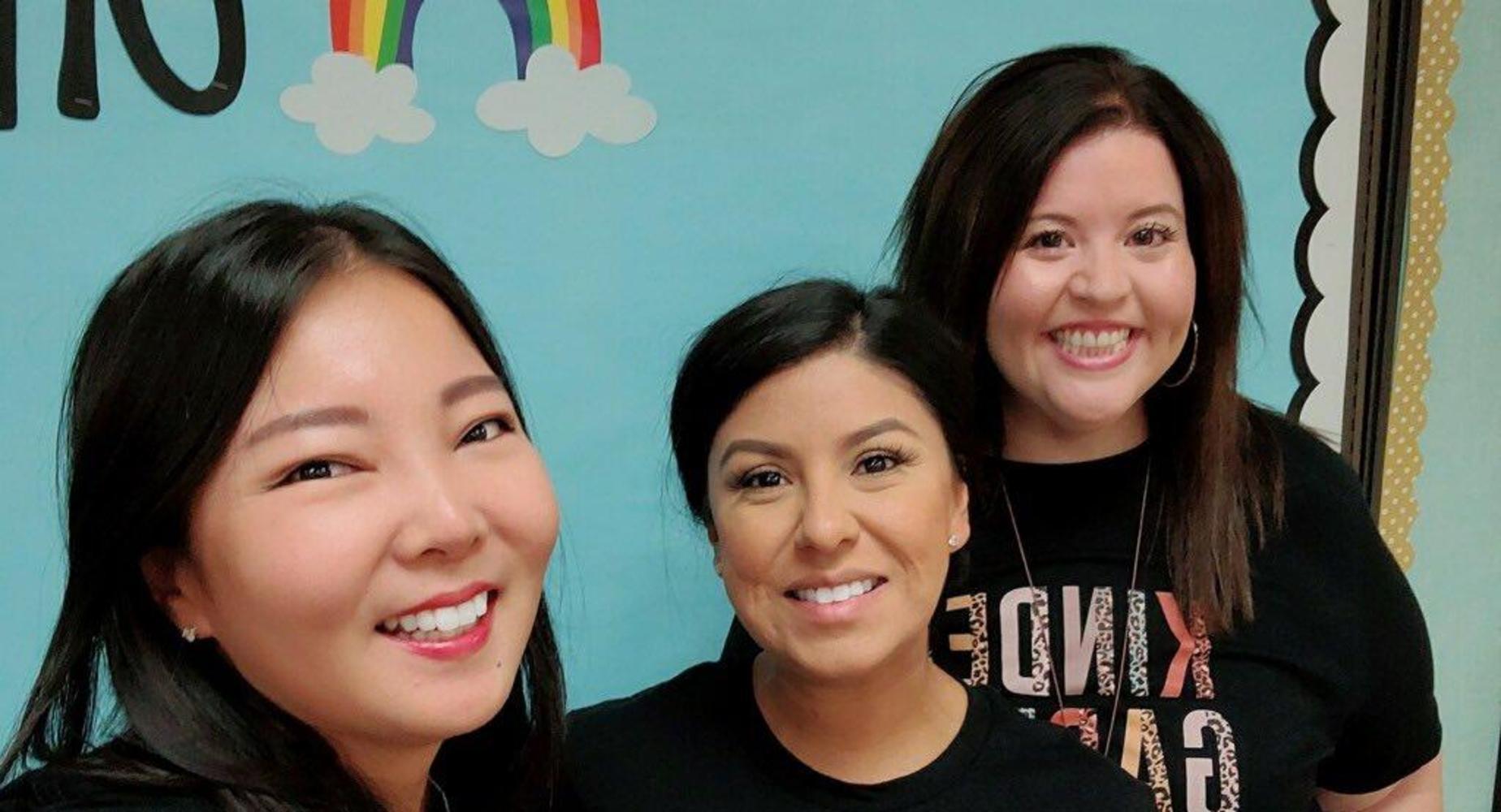 Sandrini teachers smiling for the first week of school!