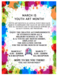 Youth Art Month poster