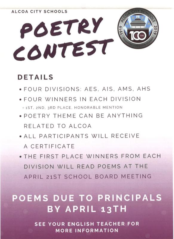 Alcoa City Schools Poetry Contest Featured Photo