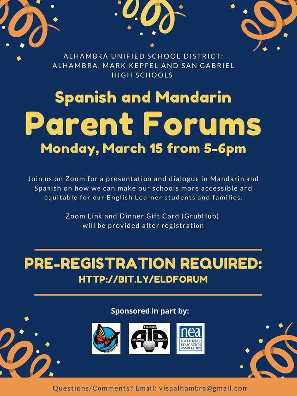 ELD Parent Forum Featured Photo