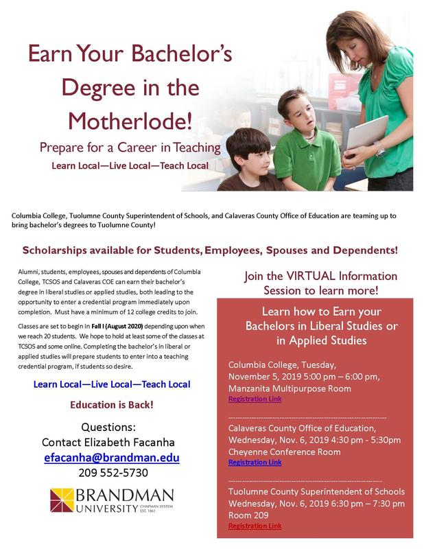 Earn your degree flyer