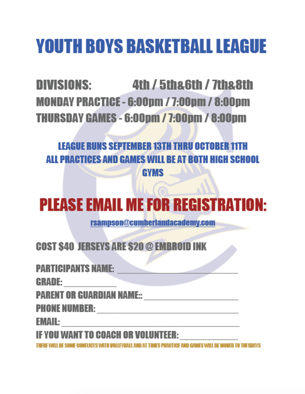 Youth Boys Basketball League Featured Photo