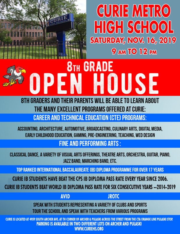 Curie 8th Grade Open House Flyer.png