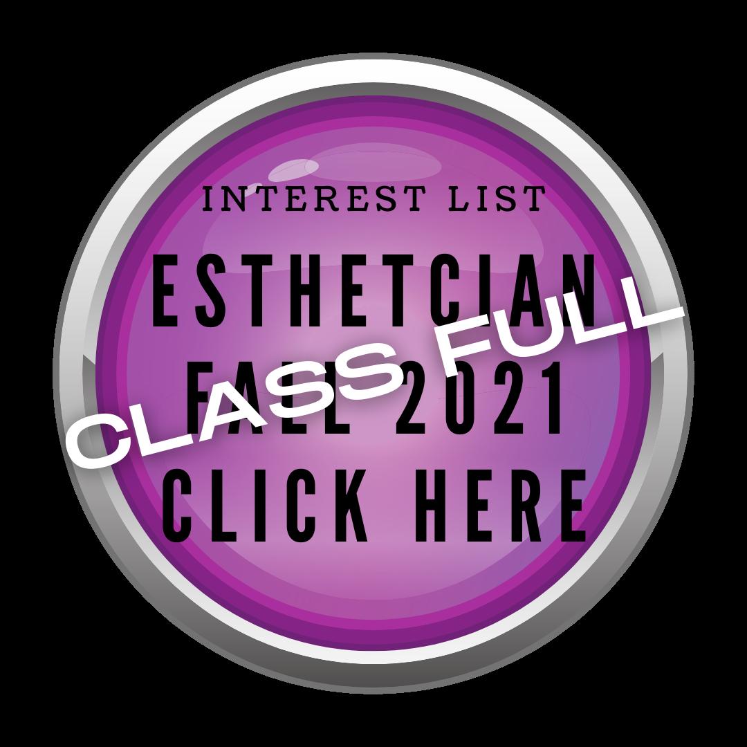 Esthetician Program Interest Start Button