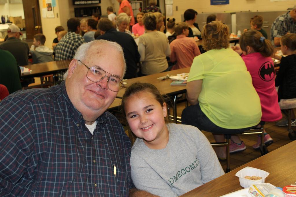 student with grandparent