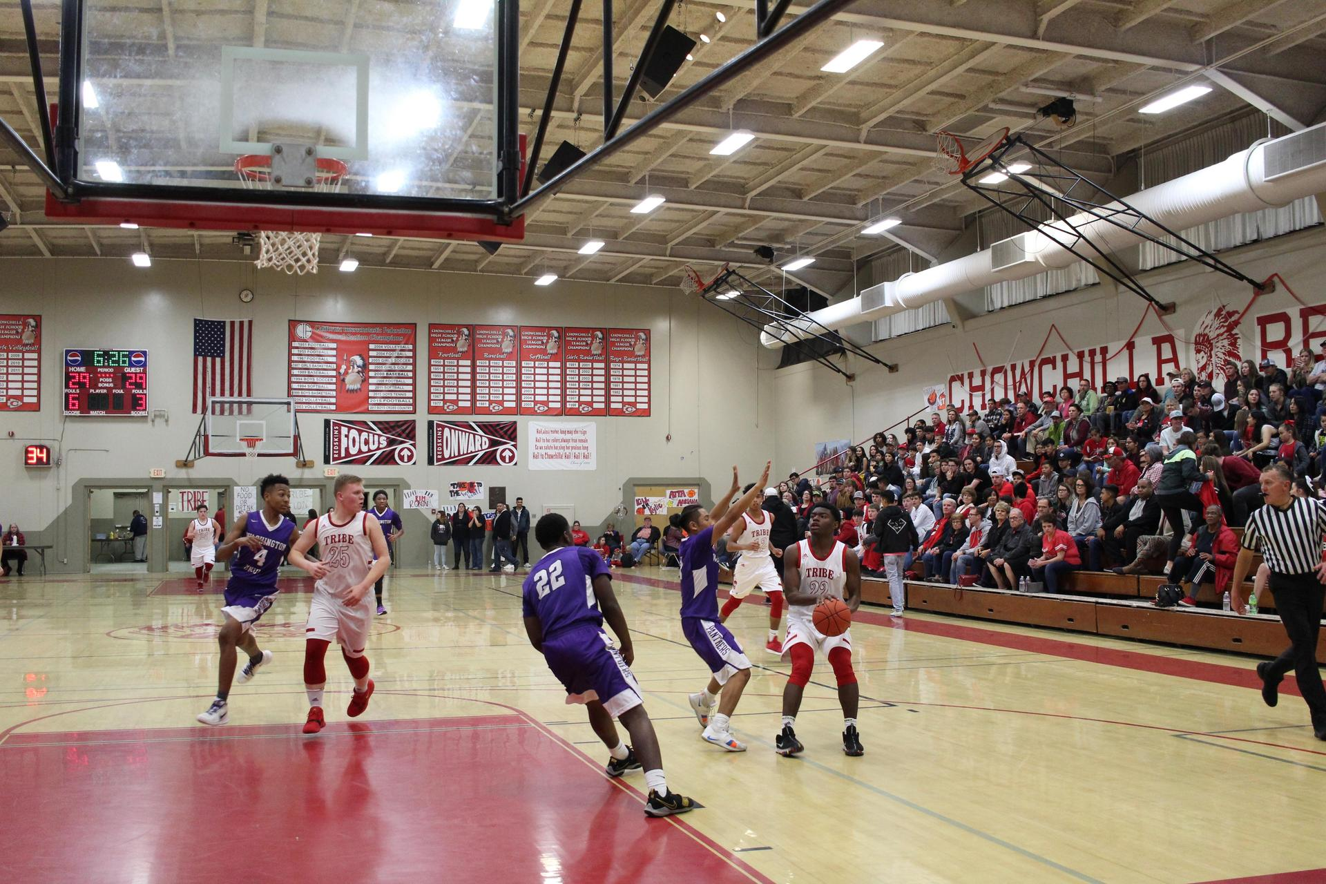 Athletes at Basket Ball Game vs Union