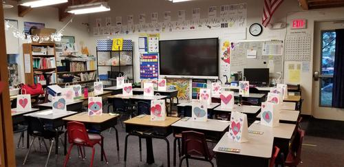 Valentine Bags in second grade.