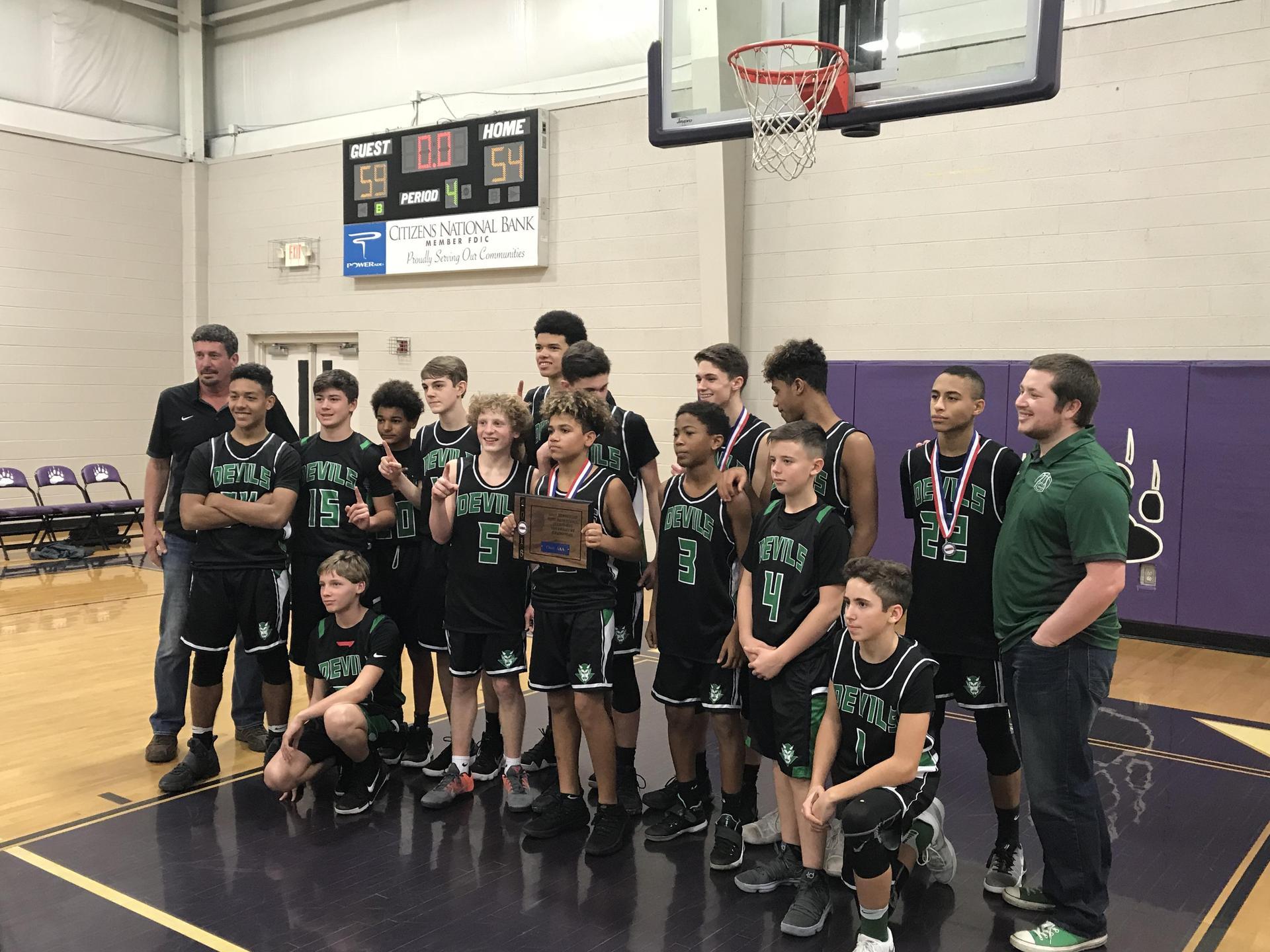 2017-2018 TMSAA AAA Sectional Champions