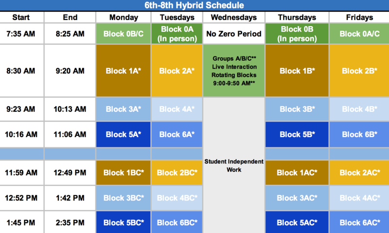 Hybrid Schedule begins Monday, April 26 Featured Photo