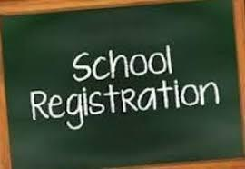 blackboard with school registration