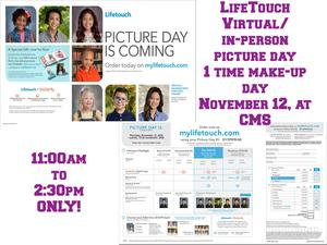 LifeTouch Final Makeup Date for Staff and Students (Virtual and In-Person)