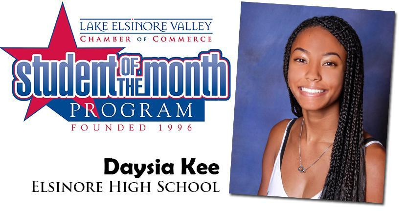 Daysia Kee, Elsinore HS, Student of the Month Honoree for September 15, 2020.