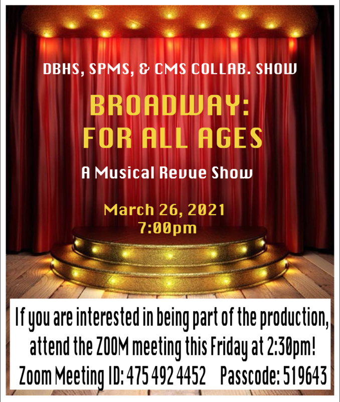 Informational Meeting for all Students interested in Performing in our Musical Review Featured Photo