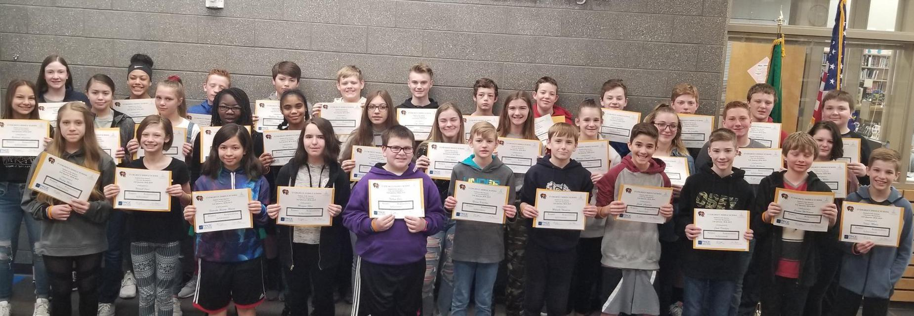 Students of the quarter 7th grade-3rd quarter