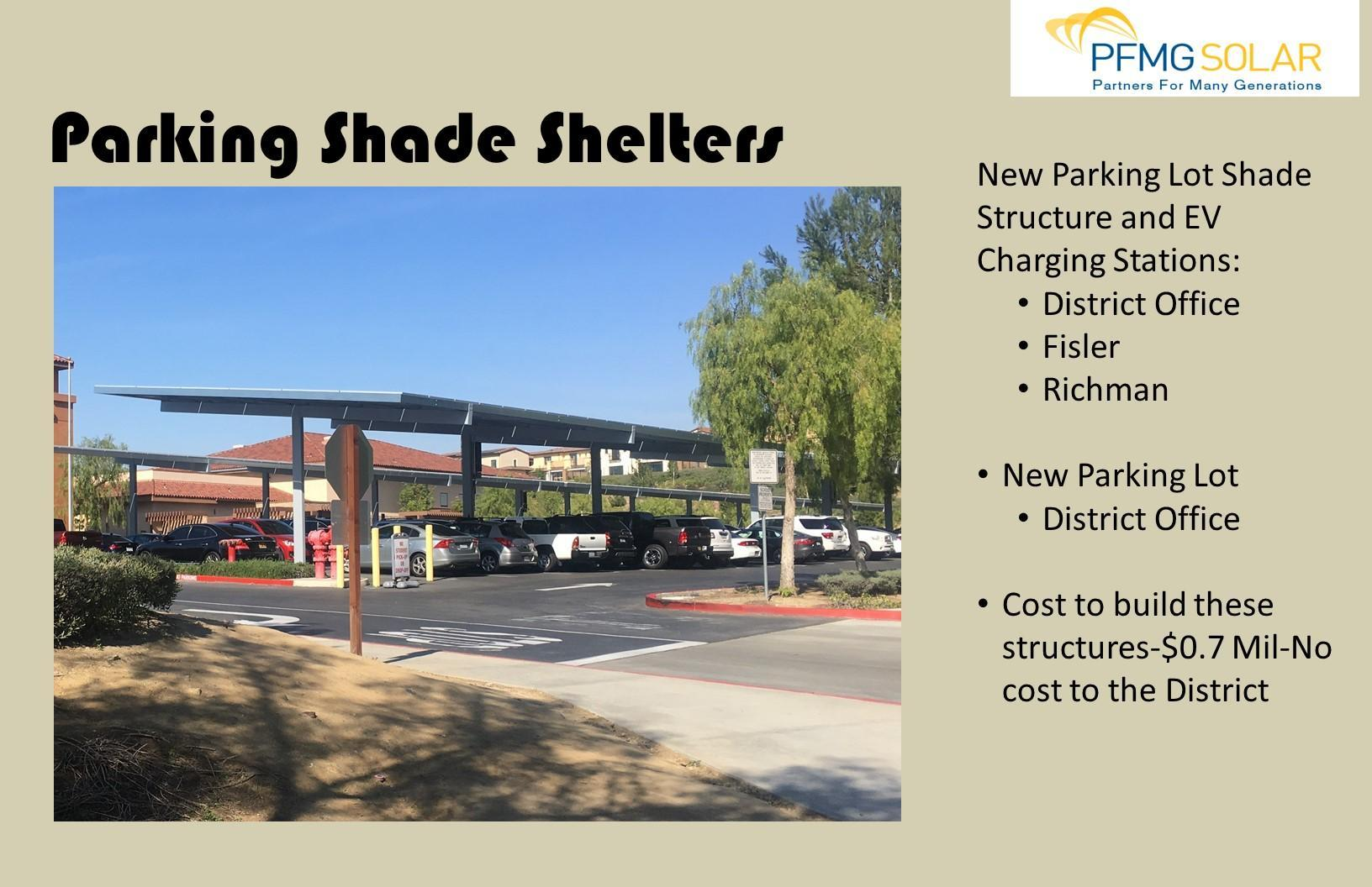 Parking Shade Shelters