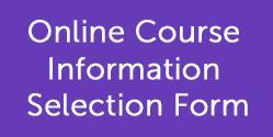 Online Course Information Selection Form