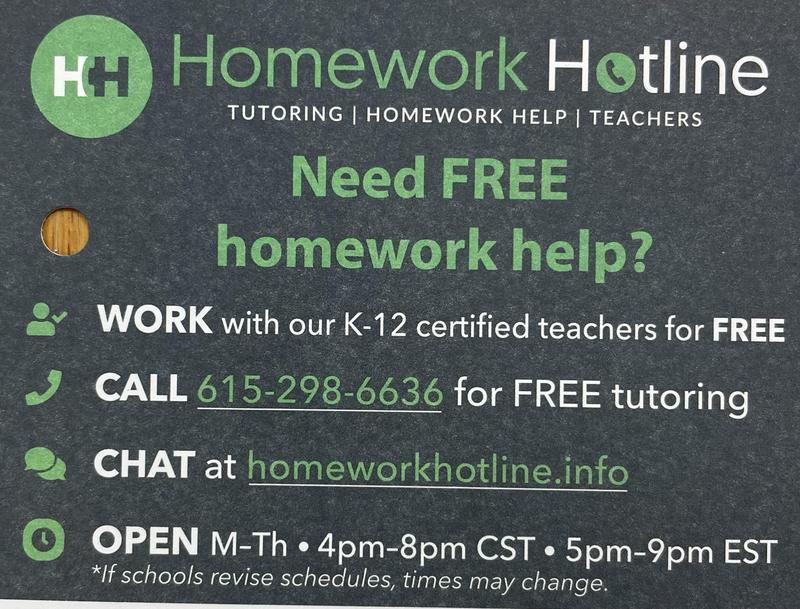 Homework Hotline Featured Photo