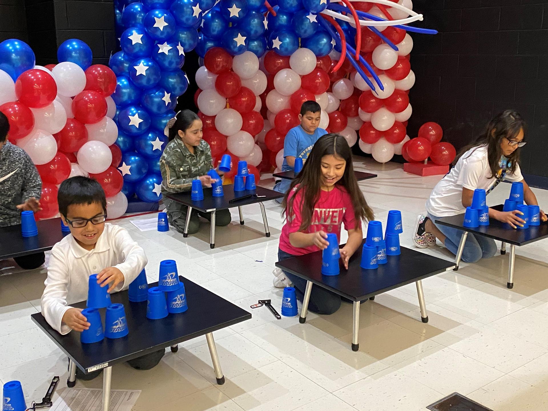 Escandon Elementary Cupstacking Fun