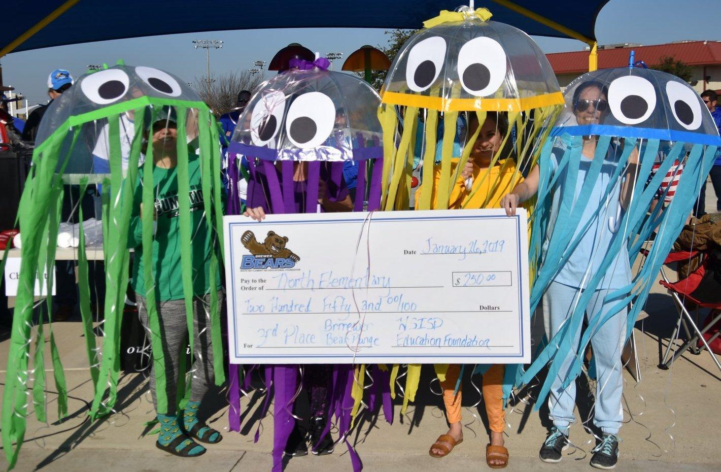 North Elementary 3rd place winner for most money raised