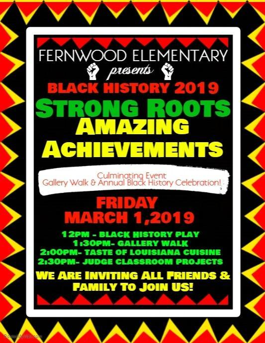 2018 - 19 Black History Performance and Gallery Walk!!!! Thumbnail Image