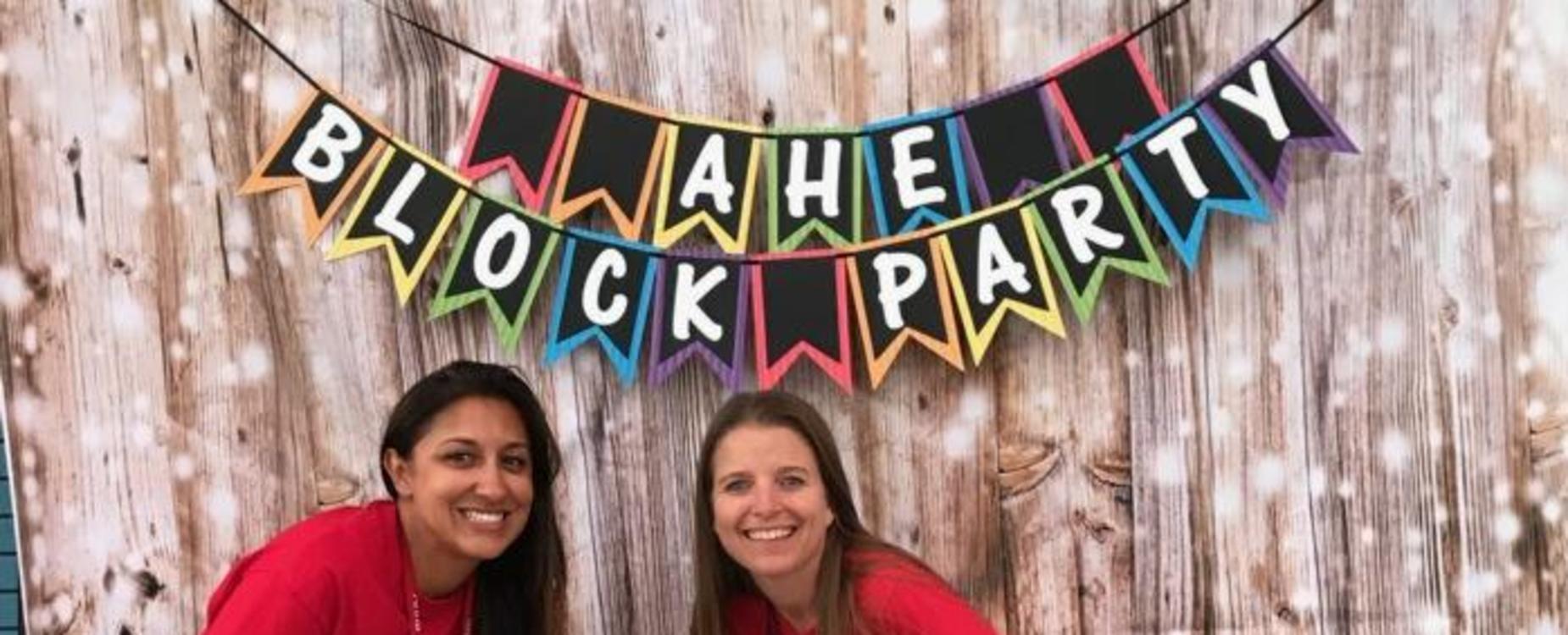 principals at AHE block party