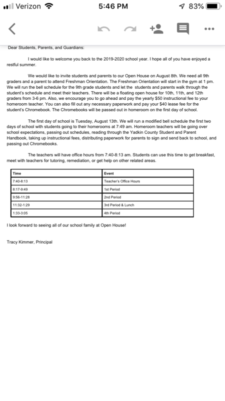 Parent and Student Letter Thumbnail Image