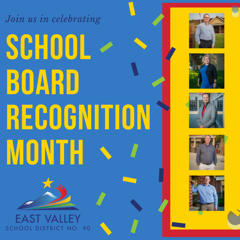 Join us in celebrating School Board Recognition Month with a picture of all 5 East Valley Board of Directors.