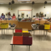 CMS staff preparing food baskets