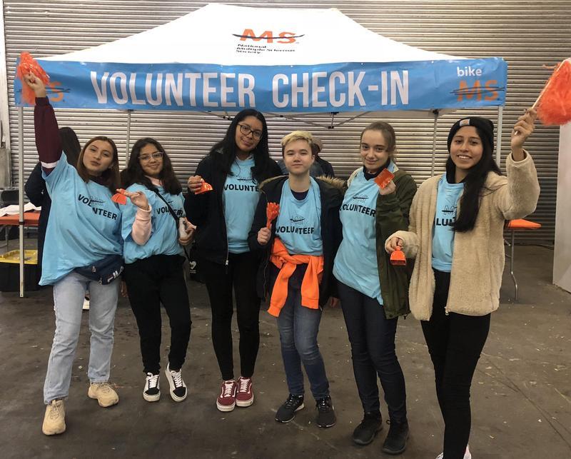Maspeth High School National Honor Society Volunteers @ Bike MS Featured Photo