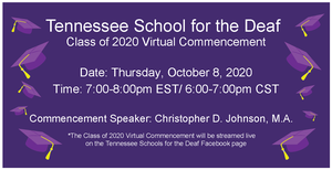 TSD Class of 2020 Virtual Commencement Flyer