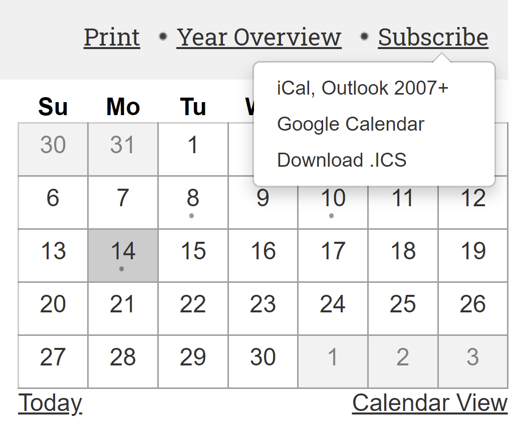 Calendar Sync directions