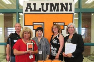 Jody Helrigel Pratt was honored with the Distinguished Alumni Award at the reunion.