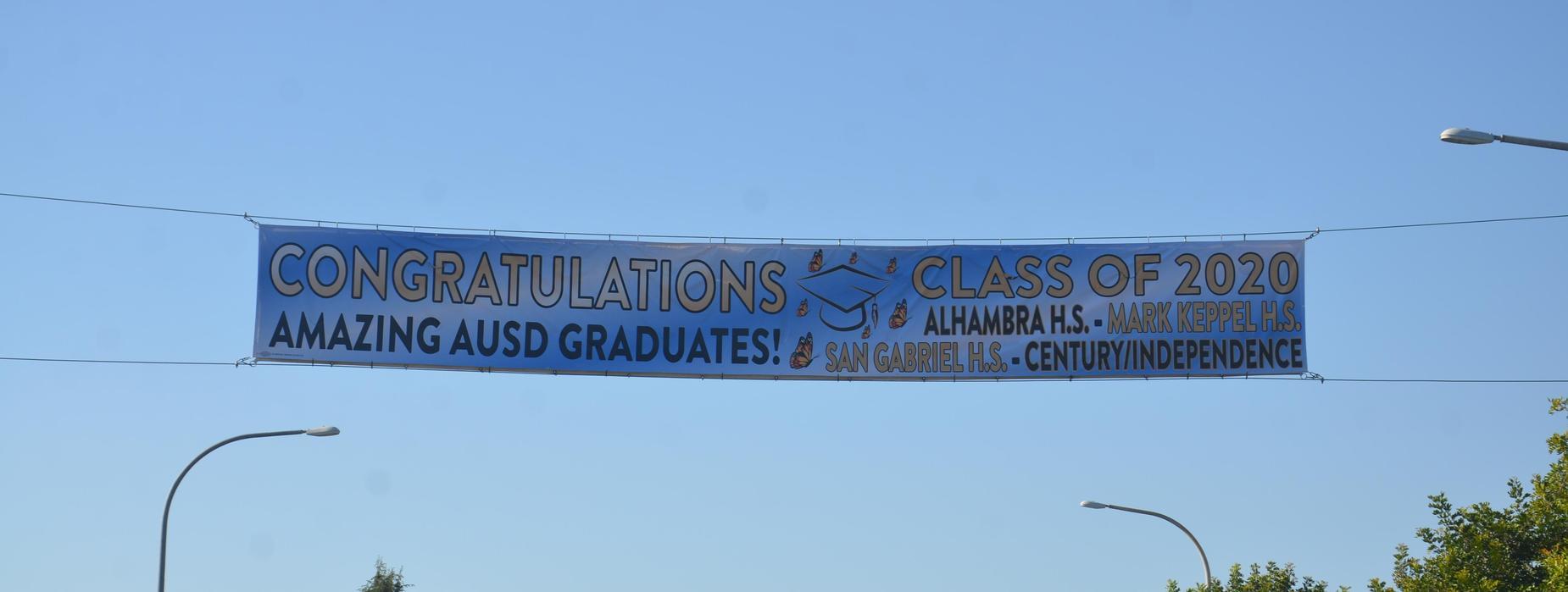 AUSD High Schools Class of 2020 Banner