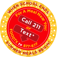 graphic reads when school ends summer meals begins