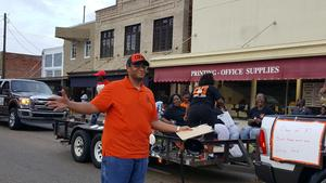 Julien walking at 2019 Homecoming Parade