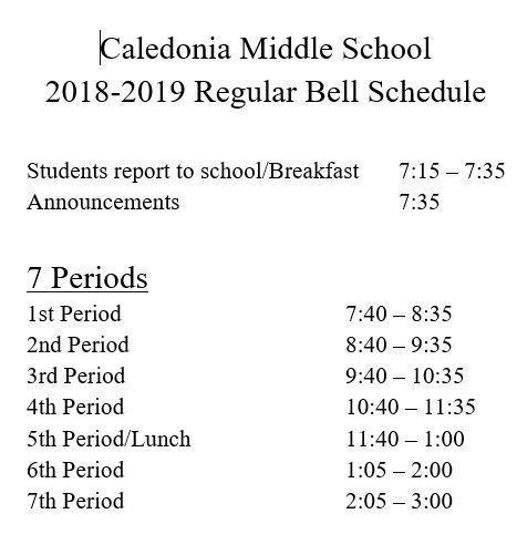 reg bell schedule