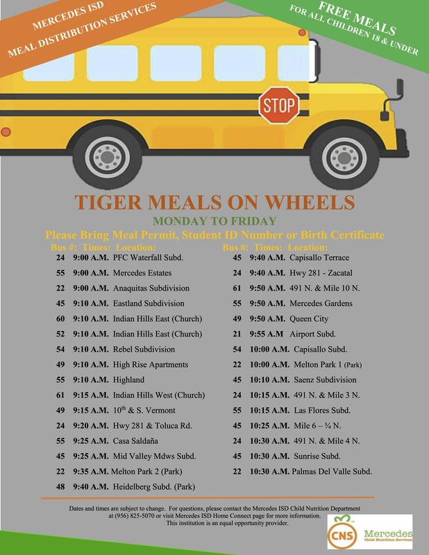 UPDATED: Grab and Go Meals, Tiger Meals on Wheels, & Curbside Meal Services Featured Photo