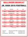 Junior High Football Schedule 2019