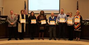 Principals Receive Awards on Behalf of Schools for Exceeding Expected Growth on NC Report Card