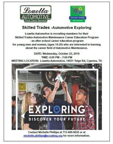 Skilled Trades - Automotive Exploring