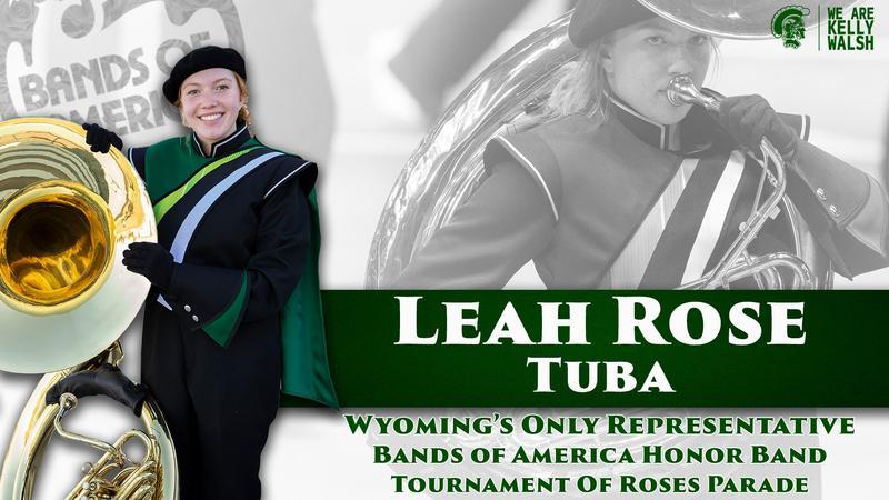 Leah Rose Holding a Tuba