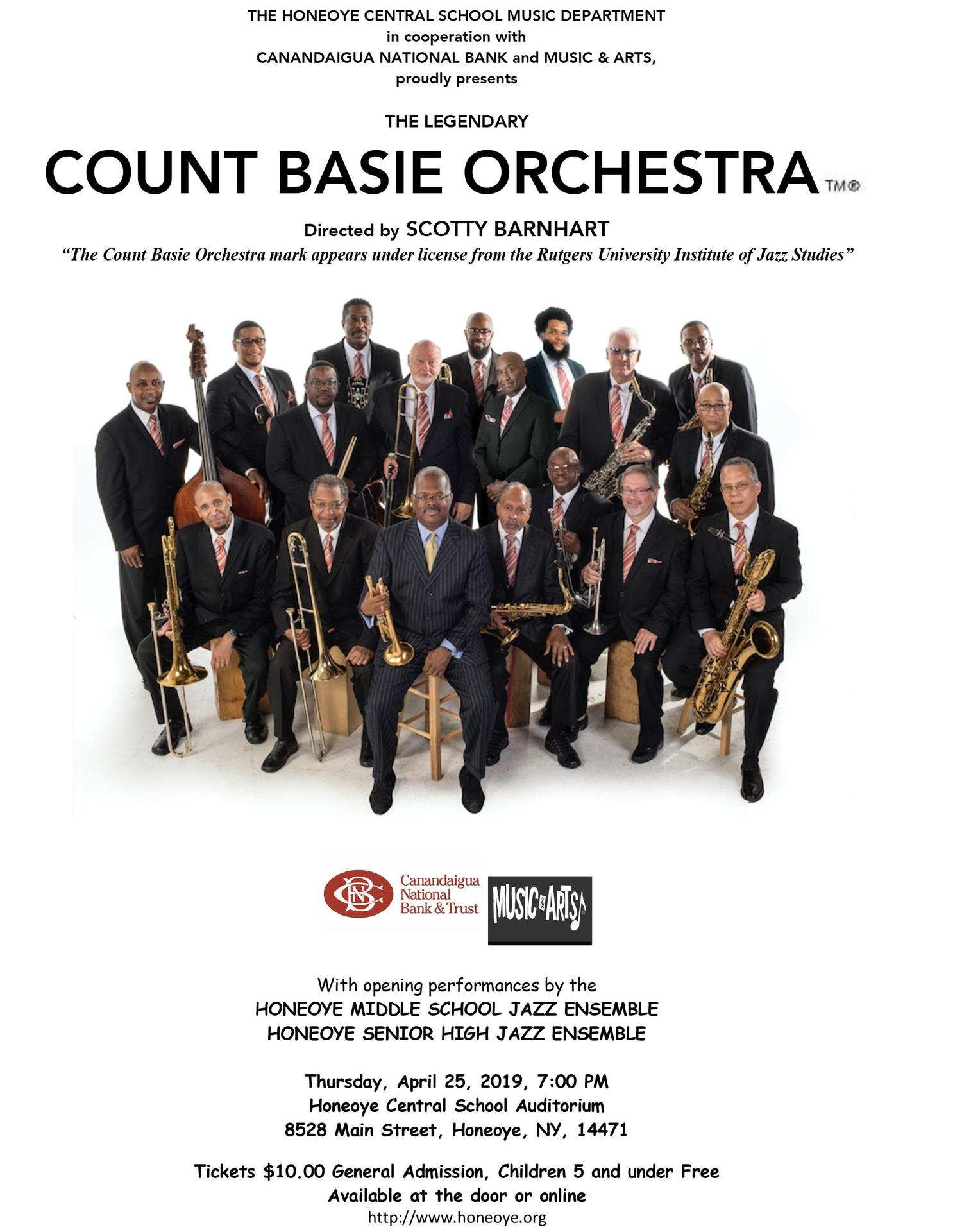 Count Basie Orchestra coming to HCS!