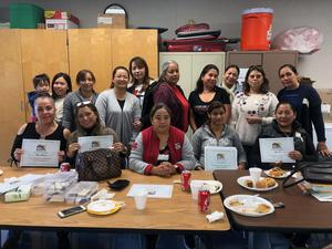 Kenmore parents who attended the Latino Family Literacy program