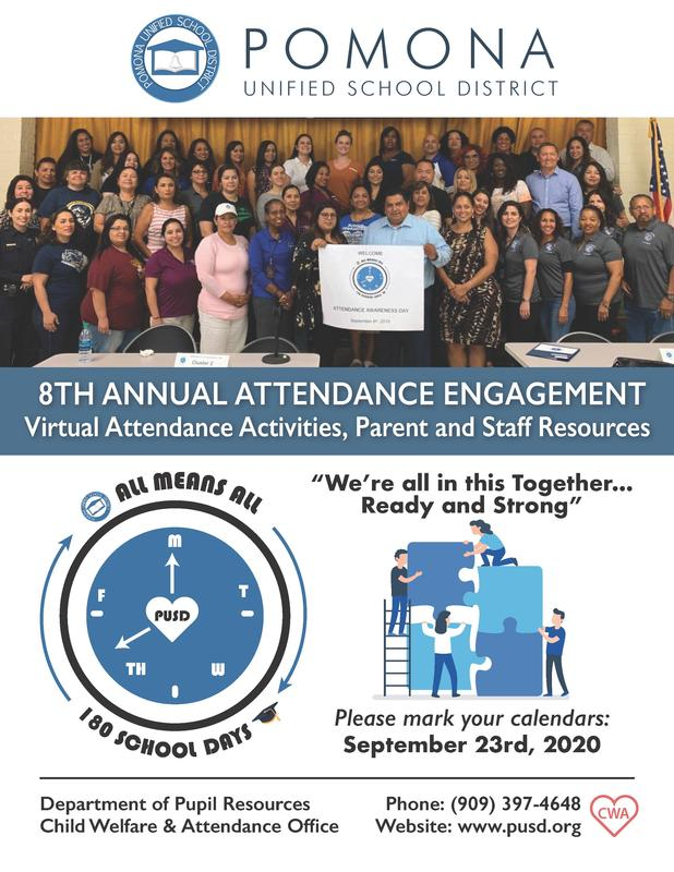 We're all in this together! Join us on September 3rd for Virtual Attendance Activities, Parent and Staff Resources #AllMeansAll #Proud2bepusd