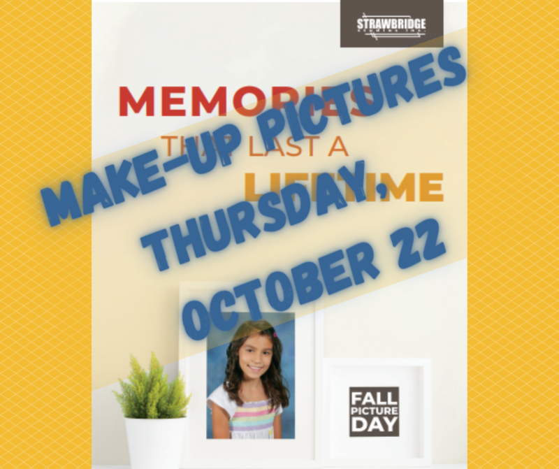 Make-Up Pictures Thursday, Oct. 22.