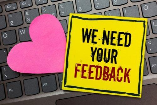 Image that says We Need Your Feedback