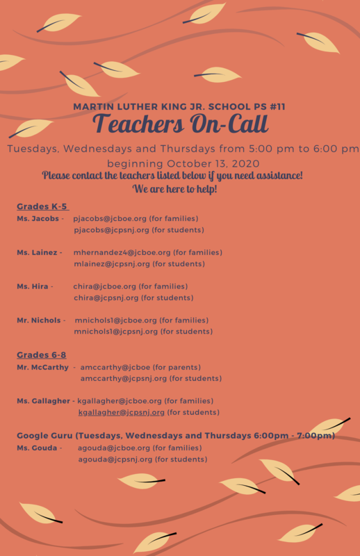 Martin Luther King, Jr. P.S.#11 Teacher On Call and Google Guru Programs Featured Photo