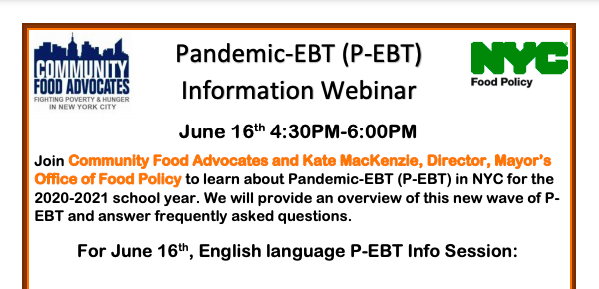 ** Pandemic EBT Information ** Featured Photo