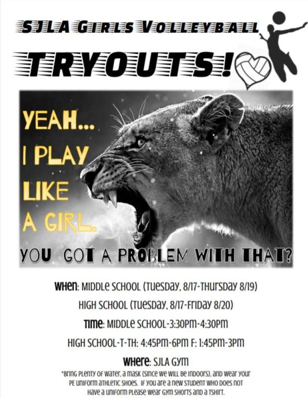 Girls volleyball tryouts 2021